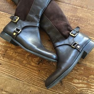 Franco Sarto Leather Over the Knee Boots